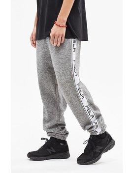 Warm Up Fleece Side Stripe Grey Pants by Pac Sun