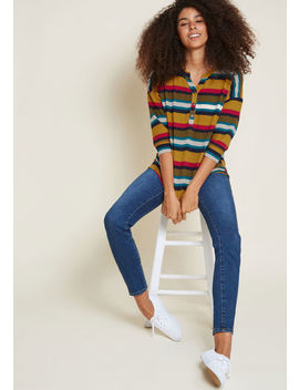 fireplace-festivities-relaxed-knit-top-in-stripes by modcloth