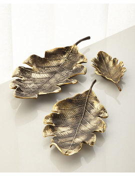 Leaf Table Decor, Set Of 3 by Neiman Marcus