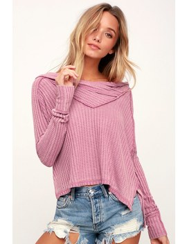 Wildcat Washed Mauve Thermal Long Sleeve Top by Lulu's