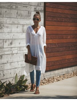 Prairie Winds Pocketed Tunic   Off White by Vici