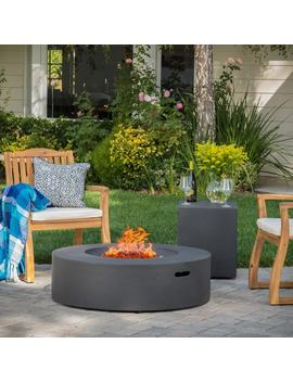 Santos Outdoor Circular Propane Fire Pit Table With Tank Holder By Christopher Knight Home by Christopher Knight Home