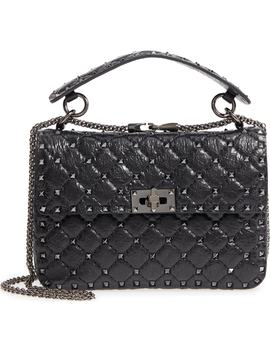 Vitello Rockstud Lambskin Leather Shoulder Bag by Valentino Garavani