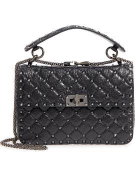 Vitello Rockstud Lambskin Leather Shoulder Bag by Valentino Garavani