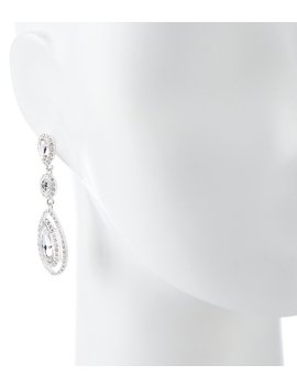Pavé Triple Tear Drop Statement Earrings by Generic