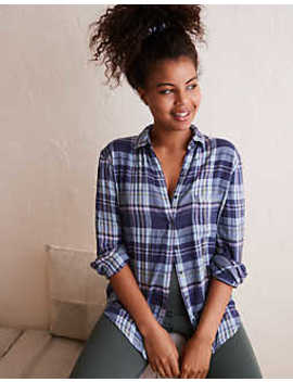 Aerie Flannel Shirt by American Eagle Outfitters