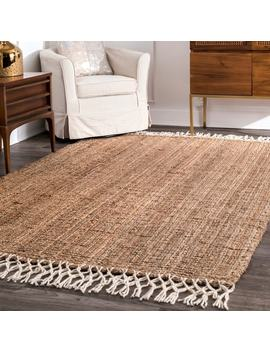 The Gray Barn Antelope Springs Chunky Jute And Wool Tassel Area Rug by The Gray Barn
