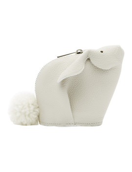 White Bunny Coin Pouch by Loewe