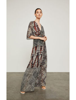 Patchwork Maxi Wrap Dress by Bcbgmaxazria