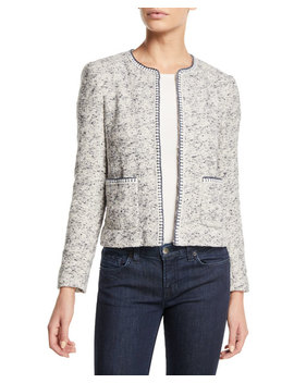 Speckled Hook Front Tweed Jacket by Rebecca Taylor