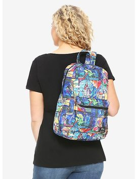 Loungefly Disney Beauty And The Beast Stained Glass Backpack by Hot Topic