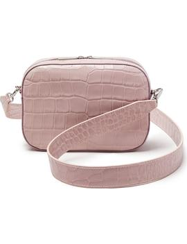 Croc Embossed Bigger Leather Camera Bag by Pop & Suki