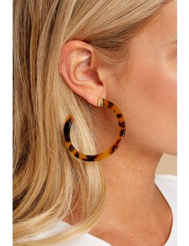 Plan On This Brown Tortoise Earrings by Golden Stella
