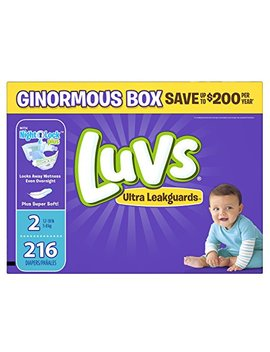 Luvs Ultra Leakguards Disposable Baby Diapers Size 2, 216 Count by Luvs