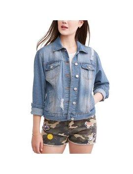 New Look Juniors' Distressed Denim Jacket by New Look