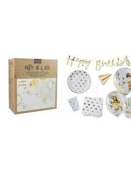 Ginger Ray Party In A Box   Happy Birthday   Gold by Ginger Ray