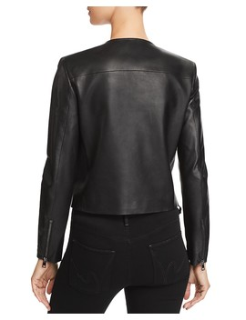 Clean Leather Moto Jacket by Theory