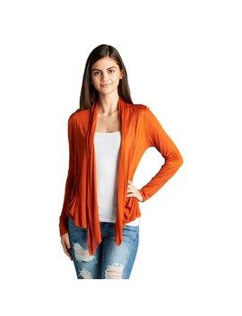 Emmalise Women Basic Drape Cardigan Shawl W Side Pockets   Junior Sizes by Emmalise