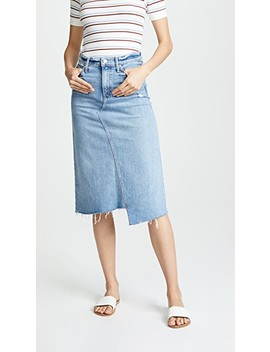 The Straight A Step Fray Skirt by Mother