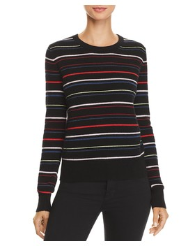 Shirley Striped Cashmere Sweater by Equipment