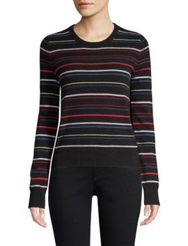 Shirley Variety Stripe Cashmere Sweater by Equipment