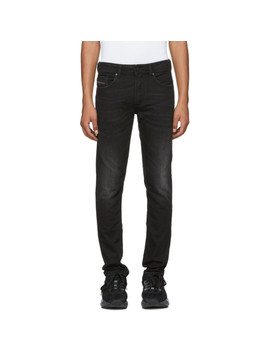 Black Washed Thommer Jeans by Diesel