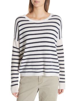 Colorblock Stripe Cashmere Sweater by Atm Anthony Thomas Melillo