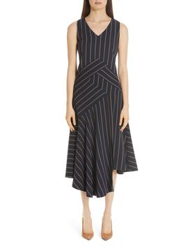 Ashlena Asymmetrical Stripe Dress by Lafayette 148 New York