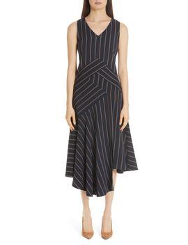 Ashlena Asymmetrical Stripe Dress by Lafayette 148 New York
