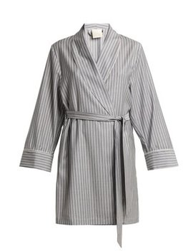 Alix Striped Wool Robe by Morpho + Luna