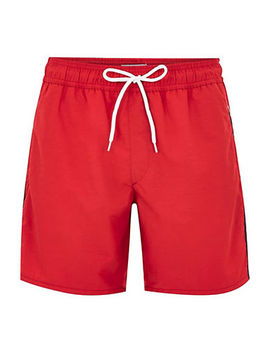 Red Tape Swim Shorts by Topman