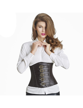 Leather Corset  Waist Trainer Corsets Steampunk Sexy Underbust Corsets And Bustiers Steampunk Clothing Corset Sexy Intimates by Queenral