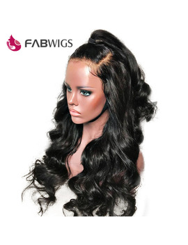 Fabwigs 13x4 Brazilian Body Wave Lace Front Human Hair Wigs Pre Plucked Lace Front Wig Remy Human Hair Wigs With Baby Hair by Fabwigs