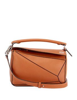 Puzzle Small Grained Satchel Bag by Loewe