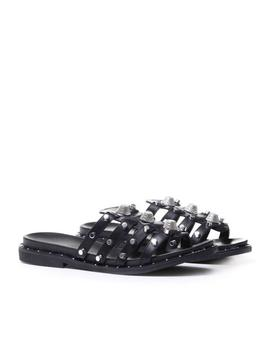 Lay Studded Flat Sandals by Koi Footwear
