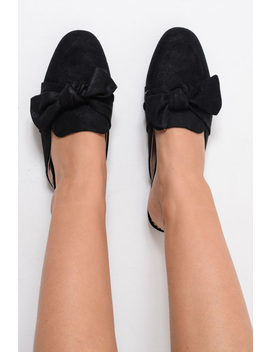 Black Bow Front Mules   Rahab by Rebellious Fashion