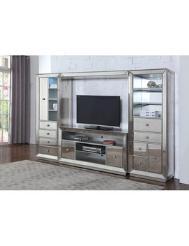 Best Master Furniture Mirrored Entertainment Center by Best Master Furniture