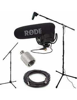 Rode Video Mic Pro R Studio Boom Kit   Vmpr, Boom Stand, Adapter, And 25' Cable by Dvestore