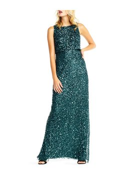 Sleeveless Beaded Blouson Top Gown by Generic