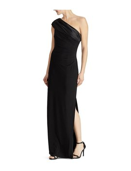 Jersey One Shoulder Gown by Generic