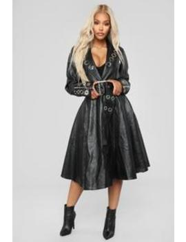 Bad Blood Coat   Black by Fashion Nova