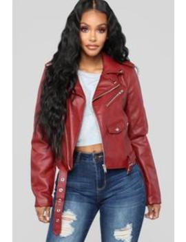 She Ready Moto Jacket   Red by Fashion Nova