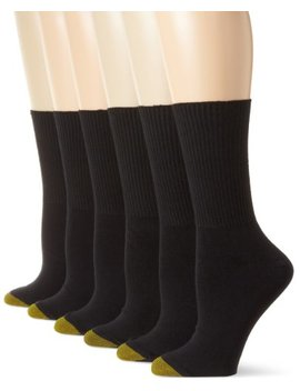 Gold Toe Women's 6 Pack Turn Cuff Sock by Gold+Toe