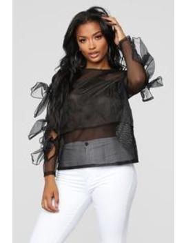 Sheer Success Top   Black by Fashion Nova