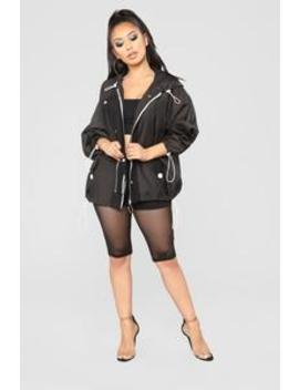 You Can't See Me Jacket   Black by Fashion Nova