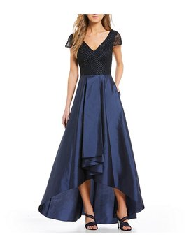 Beaded Taffeta Skirt Gown by Generic
