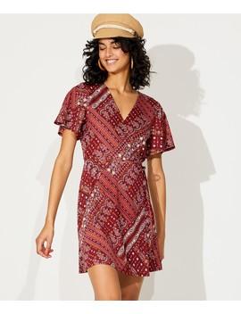 Scarf Print Wrap Dress by Sportsgirl
