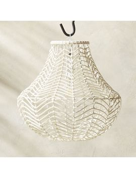 Henry Indoor Outdoor Rattan Pendant by Crate&Barrel