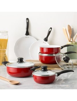 Wayfair Basics™ Wayfair Basics 10 Piece Nonstick Ceramic Cookware Set & Reviews by Wayfair Basics™