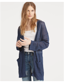 Linen Open Front Cardigan by Ralph Lauren